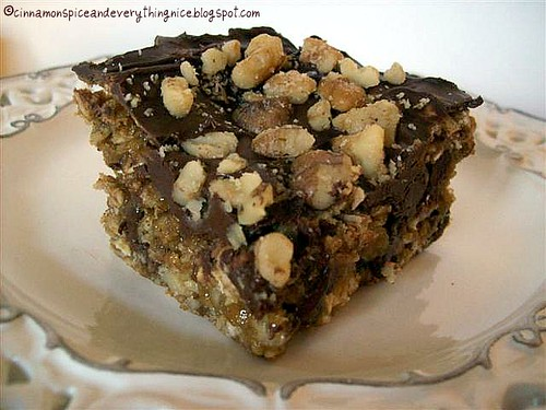 Oatmeal Cookie Candy Bars