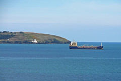 St Anthony Lighthouse and ship (Tim Green aka atoach) Tags: cornwall falmouth maenporth