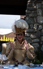 Queen (sdoorly) Tags: california costumes queen faire renfaire renaissancefestival southerncalifornia 2009 renaissance teaparty clapping irwindale santafedam renaissancepleasurefaire 91706