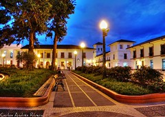 Caminos del Parque Caldas de Popayn (Carlos Andrs Rivera) Tags: pictures trip travel vacation color tourism colors architecture america wonderful de geotagged atardecer photography photo colombia south great carlos olympus best sp fotos sur andres hdr rivera calderon 565 mejores uz cauca popayan carlosrivera carlosarivera