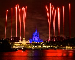 Wishes - A Nighttime Spectacular (Matt Pasant) Tags: longexposure travel night canon orlando epcot fireworks ttc wed ticket center disney mickey trainstation transportation wishes mickeymouse canon5d wdw magickingdom waltdisney cinderellascastle imagineering imagineer baylake reed