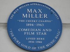 Max Miller Blue Plaque