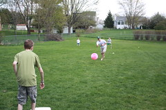 Kevin leading Kick-Ball