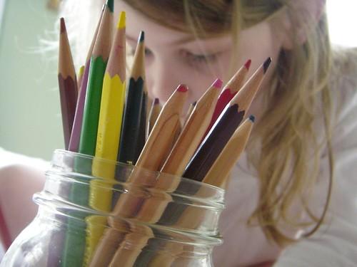 through the pencils
