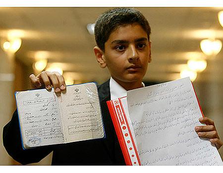 Thumb Koresh Mouzuni, niño de 12 años se registra para la presidencia de Irán