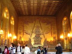 Le hall doré avec la reine Stockholm