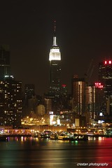 Empire State Building @ Night - NYC (cvrestan) Tags: newyorkcity building skyline state empire nightphoto newyorkatnight newyorkcityskyline atimonanin