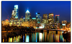 Philadelphia at night... (kw~ny) Tags: city philadelphia cityscape pennsylvania hdr nikond700