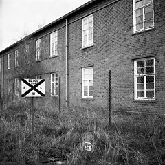 90,000 Litres (RobSalmon) Tags: hairy 6 white black abandoned 6x6 robert film by square diy bath fuji yorkshire over salmon toilet rob east iso bronica dev format neopan block 100 six barracks sq derelict 90 raf sqa driffield acros developing 100iso hairyrob