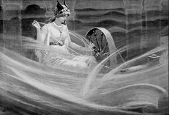 Frigga Spinning the Clouds by J. C. Dollman (Thorskegga) Tags: wheel clouds goddess spinning viking mythology myth scandinavian pagan norse germanic heathen frigg teutonic frigga asatru heathenry