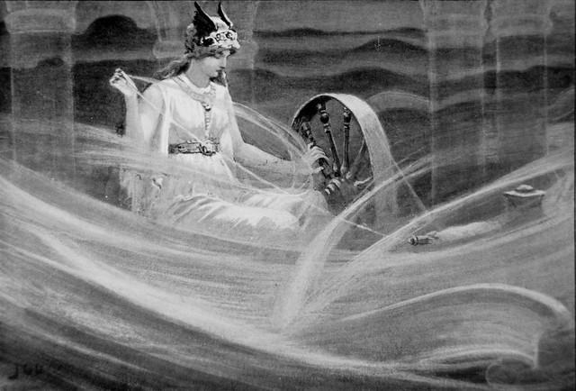 Frigga Spinning the Clouds by J. C. Dollman