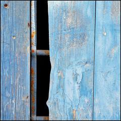 (Katerina.) Tags: wood blue texture rust urbandecay minimal minimalism peelingpaint 500x500 doordetail photographia haphazart haphazartblue haphazartabandoned winner500 ministract haphazartsquare haphazartbroken