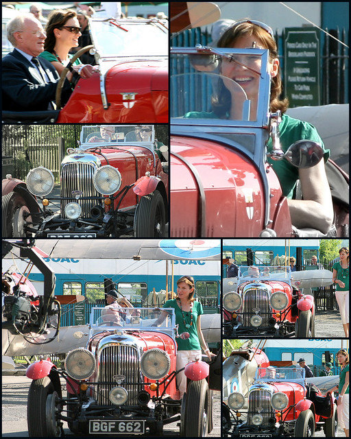 Fiona Bruce and a vintage car
