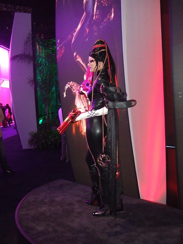 Bayonetta on the Show Floor