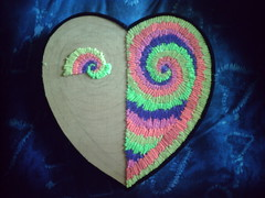 Tie-Dye Heart of Fuzzy Love! (OptToMiss) Tags: peace imagine rainbows whirled