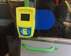 Myki scanner on a tram