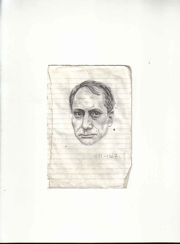 Zavier Ellis 'Mad Genius #3', 2006 Pencil on paper 14.8x10.7cm