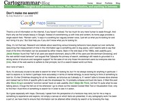 Cartogrammar.com | Blog » Don't make me search!_1244168366727