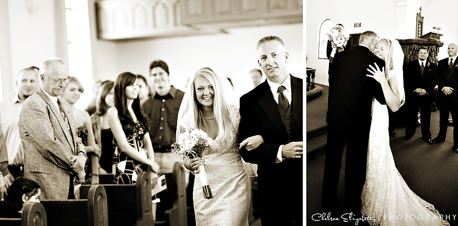 Sepia Church Wedding