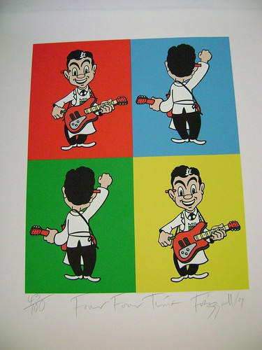 Mr 4 Square -Great NZ Songbook signed print