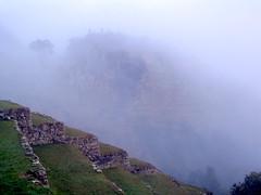 Fog at Machu Picchu