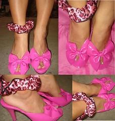 ★Super Kawaii Pink Bow Sandals from My Sis★ (Pinky Anela) Tags: pink japanese tokyo sandals kawaii bows pinkyanelagyaru