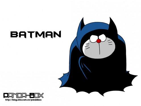 gato cósmico Doraemon Batman