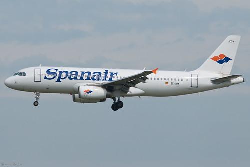avión de Spanair airBus