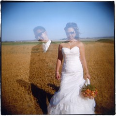 Two souls, one heart (*Cinnamon) Tags: wedding 120 film square holga doubleexposure vincent ashlee fuji800z sloppybordersfromphotoworkssf