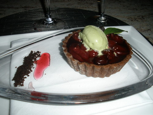 Cherry and Chocolate Ganashe Dessert