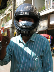 Peter Tuk Tuk Driver believes in safety first - Phnom Penh, Cambodia