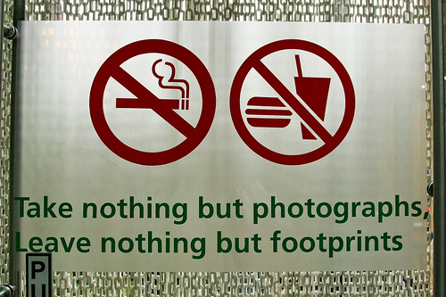 Take nothing but photographs, Leave nothing but footprints
