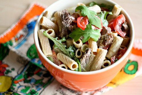 Pasta Salad w/Steak & Blue Cheese Avocado Dressing