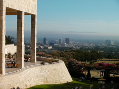 la from the getty center