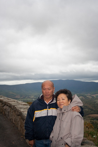 Duc and Mai at an Overlook Facing North
