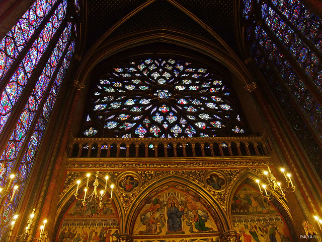 La gigantesque rosace de la Sainte Chapelle