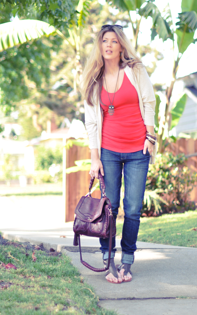 casual  outfit+every day  go   to jeans and a tank outfit