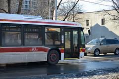 9025 peaking through (SteveC123!) Tags: toronto bus public ttc transit articulatedbus novabus lfsartic