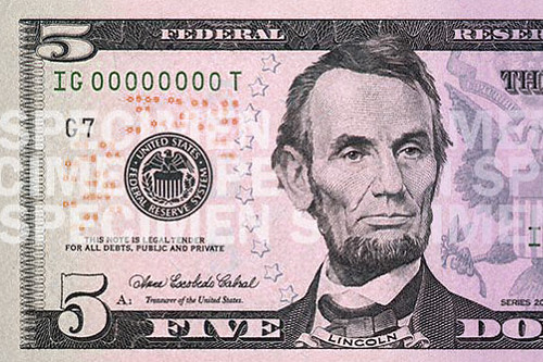Even thought the $5 is lavender, was Abraham Lincoln gay?
