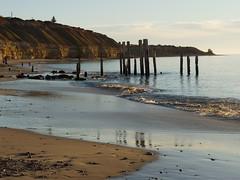 ruins of a jetty (anna_bel43) Tags: sea summer sun beach sand february southaustralia 2009 oldjetty portwillunga