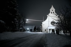 winter wonder land - project 52:week25 (smawuascht) Tags: winter snow cold ice church beautiful night project austria nikon silent nightshot carinthia snowing d200 wintertime 52 villach projekt52