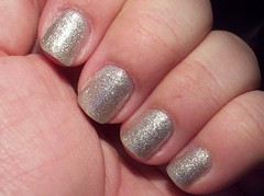 China Glaze Tinsel (Polish Addiction) Tags: macro glitter silver nail nails tinsel manicure nailpolish picnik notd chinaglaze naturalnails