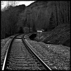 1745.3 (Stacy Osterman) Tags: railroad blackandwhite washington explore highway2 squarephotography