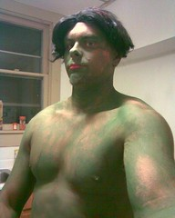 Image-hulk for Halloween (dabigcunic) Tags: shirtless man sexy men green muscles shirt big paint body cut muscle muscular beefy chest hunk dude huge vest shoulders hulk bodybuilder selfie sleeveless stocky tumblr