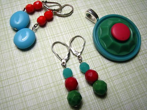 pendant & earrings for me