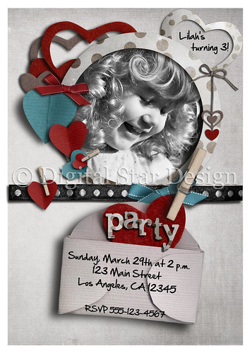 Birthday Invitation Sample, 5x7, full-size
