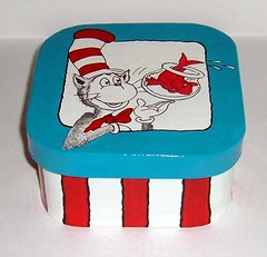 cat in a hat Box (shanblan) Tags: handmade handpainted drseuss artcraftcolorpapermacheacrylicpaint
