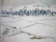 CHIGIRIE (rheajm) Tags: paper paintings washipaper chigirie washiart
