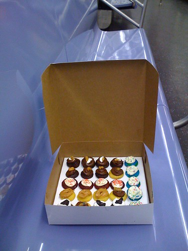 Baked by Melissa mini cupcakes on the subway