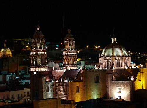 Luces de la noche en Zacatecas